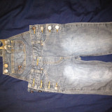 Salopeta jeans Bonaparte, noua, pt. 5-6 ani