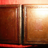 Coperti din piele pt carte, album sau documente- inc. sec.XX, Dim.= 21, 5x28, 3 cm
