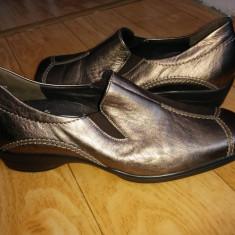 Pantofi dama, Marime: 38.5, Auriu - Pantofi din piele firma Semler marimea 38, 5, sunt noi!