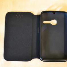 Husa ORANGE Dabi Alcatel One Touch Tribe OT-3040Flip Case Slim Black, Negru, Piele Ecologica, Toc, Cu clapeta
