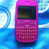 Telefon Nokia, Roz, <1GB, Neblocat, Dual SIM, Fara procesor - Nokia Asha 200 dual sim pink