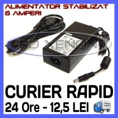 Iluminat decorativ ZDM - SURSA ALIMENTARE - ALIMENTATOR STABILIZAT 12V - 6 A AMPERI - PENTRU BANDA LED RGB 300 SMD - CABLU 220V INCLUS