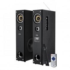 CD Player MP3 auto - Sistem audio 2 turnuri FM, SD, USB si Microfon 2x 40 w