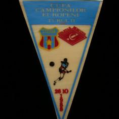 Fanion fotbal - PENTRU UN FAN STEAUA BUCURESTI - FANION - STEAUA BUCURESTI - SPARTAK MOSCOVA - CUPA CAMPIONILOR EUROPENI 26 OCTOMBRIE 1988