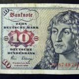 Bancnota Straine, Europa, An: 1980 - Germania 10 Mark 1980