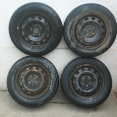 Set jante tabla R15 Vw Sharan, Ford Galaxy, Seat Alhambra 195.65 R15 - Janta tabla, Numar prezoane: 5