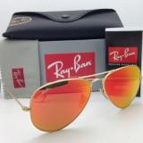 Ochelari Ray Ban Aviator RB3025 112/69 Originali - Ochelari de soare Ray Ban, Unisex, Galben, Pilot, Metal, Protectie UV 100%