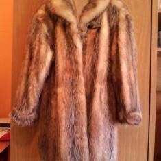 Vand haina dama, de blana, argintie, marimea 46/48 - Palton dama, Culoare: Argintiu