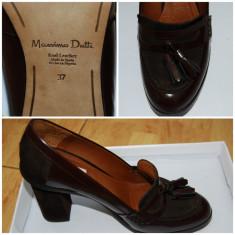 Pantofi dama Massimo Dutti, Marime: 37, Bordeaux