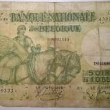 Bancnota Straine - Bancnota - Regatul Belgiei - 50 Francs / 10 Belgas 29-06-1938