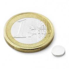 Magnet neodim disc, diametru 6 mm, putere 350 g