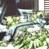 Lenjerie de pat dublu din bumbac satinat 3D(SUPER OFERTA)