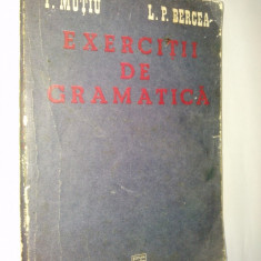 EXERCITII DE GRAMATICA - I. MUTIU L. P. BERCEA Ed. Facla 1985 - Culegere Romana