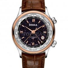 Ceas Barbatesc Doxa - Ceas de lux Doxa Blue Planet GMT Steel Rose Gold, original, nou, cu factura si garantie!