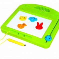 Tablita magnetica pentru desen cu creion, patru stampile si stergere rapida - Jocuri arta si creatie, Unisex