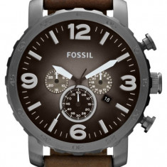 Ceas Barbatesc fossil, Casual, Quartz, Inox, Piele, 50 m / 5 ATM - FOSSIL JR1424 Nate Chronograph ! ! ! Produs nou ! ORIGINAL !