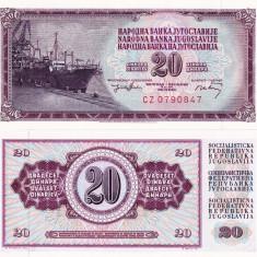 IUGOSLAVIA 20 dinara 1974 UNC!!! - bancnota europa