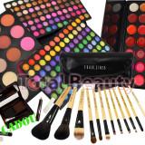 Trusa make up - Trusa Machiaj profesionala 183 culori Fraulein + 12 Pensule + 21 Ruj + CADOU
