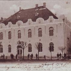 Romania, Maramaros Sziget, Sighetul M. carte postala circulata 1903: Scoala Fete - Carte Postala Maramures pana la 1904, Fotografie, Sighetu Marmatiei