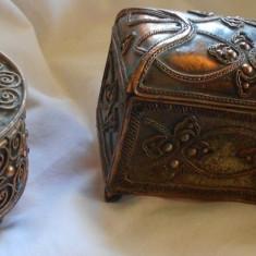 Metal/Fonta, Ornamentale - CASETA CUTIE CASETE BIJUTERII CUPRU LADA ZESTRE LUCRATE MANUAL