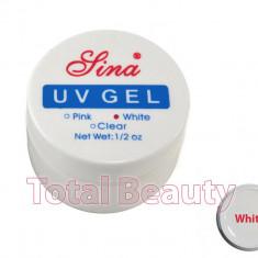 Gel unghii - Gel Constructie Unghii UV Sina 15 ml White French - Gel UV Alb
