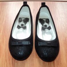 PANTOFI / PANTOFIORI H&M MAR 25 - IMPECABILI - - Pantofi copii H&m, Culoare: Negru, Fete, Textil