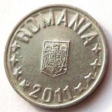 Monede Romania, An: 2011 - G5. ROMANIA 10 BANI 2011 EROARE LITERE CIFRE STELUTE INCARCATE CU METAL NR 2 **