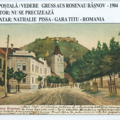 Carte postala / Vedere Rasnov 1904 - Carte Postala Transilvania pana la 1904, Circulata, Fotografie