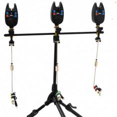 Rod pod Pescuit - Rod Pod 3 Posturi Full Echipat Cu Senzori / Avertizori Si Swingere Led