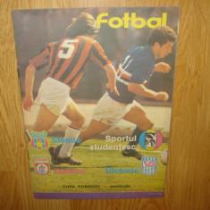 Program meci - PROGRAM STEAUA - SPORTUL -DINAMO - VICTORIA SEMIFINALELE CUPEI ANUL 1988
