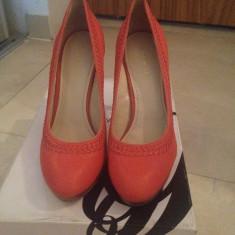 Pantofi dama Nine West - Pantof dama Nine West, Marime: 39, Culoare: Corai, Piele naturala