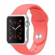 Apple Watch Sport 38mm | Carcasa aluminiu | Curea silicon roz - Smartwatch
