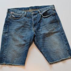 Blugi barbati, Scurti, Prespalat, Slim Fit - Pantaloni scurti blug slim fit Ralph Lauren Jean talie 31 32