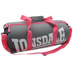 Geanta de voiaj - Geanta Lonsdale sala fitness gym gri/roz L52xH26xl26cm -originala- IN STOC