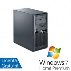 Sisteme desktop fara monitor - Fujitsu P5731, Intel Dual Core E5400 2.7Ghz, 2Gb DDR3, 160Gb SATA, DVD-RW + Windows 7 Home Premium