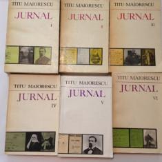 TITU MAIORESCU JURNAL VOL 1-6, rf8/3 - Biografie