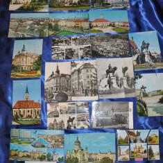 Lot 25 CP CLUJ. Alb-Negru si Color . (Carti postale vechi, Vederi Romania), Circulata, Fotografie, Romania de la 1950