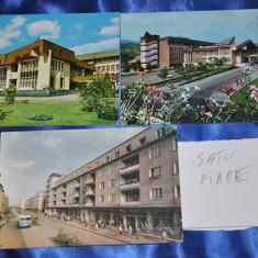 Carte Postala, Circulata, Fotografie, Romania de la 1950 - Lot 3 CP SATU MARE (Carti postale vechi, Vederi Romania)