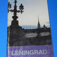Harta Turistica - GHID TURISTIC LENINGRAD, 1991. LIMBA FRANCEZA