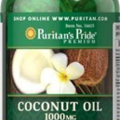 Supliment nutritiv - Ulei de cocos, 1000 mg, 120 gel (slabire, colesterol, combate pofta de dulce)