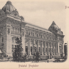 BUCURESTI PALATUL POSTELOR - Carte Postala Muntenia pana la 1904, Necirculata, Printata