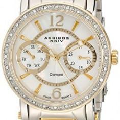 Akribos XXIV Women's AKR472YG Lady Diamond | 100% original, import SUA, 10 zile lucratoare af22508 - Ceas dama