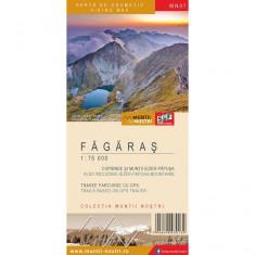 Harta Turistica - Schubert & Franzke Set Harti Harta Muntii Nostri Harta Muntilor - Fagaras MN07