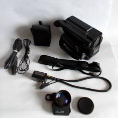 Aparat de filmat, video camera recorder AIWA CV-50 + geanta si accesorii, vintag - Aparat Filmat