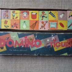 Domino cu figuri joc vechi romanesc de colectie comunist anii 70 rar hobby - Jocuri Logica si inteligenta, 6-8 ani, Unisex