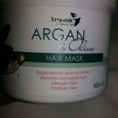 (aganic)masca de par cu argan si ulei de masline pentru par deteriorat