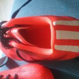 Ghete fotbal adidas, Marime: 42, Culoare: Rosu, Barbati, Iarba: 1