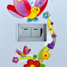 Sticker decorativ perete intrerupator, mobila, perete-autocolant fluture