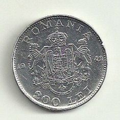 Monede Romania, An: 1942, Argint - ROMANIA MIHAI I 200 LEI 1942 ARGINT 6 g . [13] livrare in cartonas