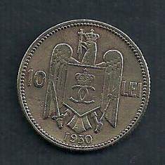 ROMANIA CAROL II, 10 LEI 1930 LONDON- LONDRA [18] Livrare in cartonas - Moneda Romania, Alama
